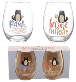 Feline Fine Cat Decal Tumblers