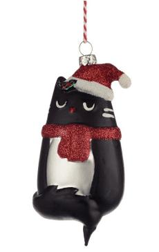 Feline Fine Cat Glass Christmas Bauble Decoration