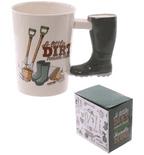 Garden Wellington Shaped Handle Mug
