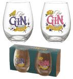 Gin the Mood Glass Tumblers