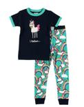 Girls LazyOne I Believe Unicorn PJ's with Short Sleeves