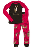 Girls LazyOne Trophy Child PJ set with long sleeves