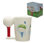 Golf Ball & Tee Shaped Handle Mug