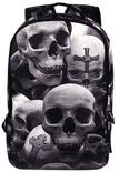 Grey Skulls Backpack