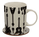 Guitar Mug & Coaster Set