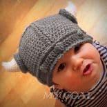 Handmade Viking crochet hat for children