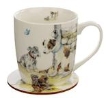 Jan Pashley Dogs Mug & Coaster Set