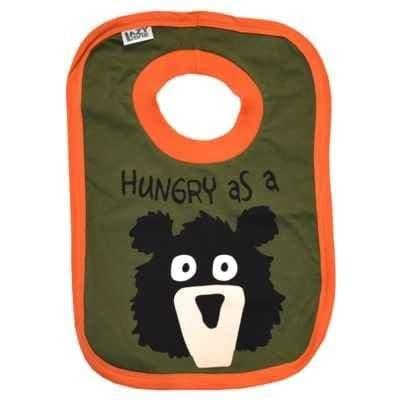 Lazyone Boys Hungry As A Bear Baby Bib