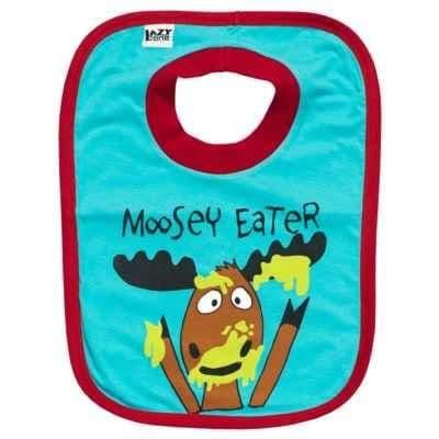 Lazyone Boys Moosey Eater Bib