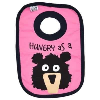 Lazyone Girls Hungry As A Bear Baby Bib