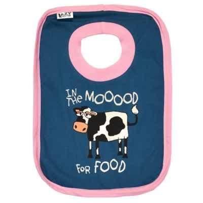Lazyone Girls Moood For Food Baby Bib