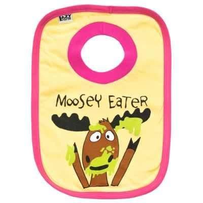 Lazyone Girls Moosey Eater Baby Bib