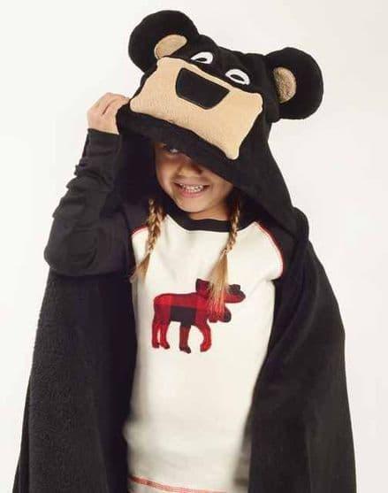 Lazyone Hooded Critter Fleece Bear Blanket