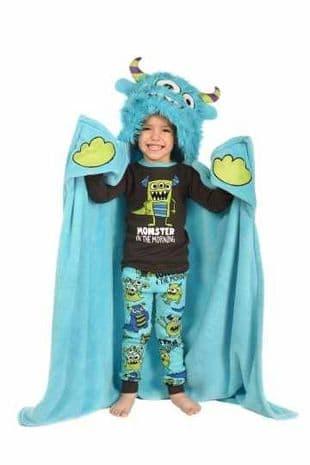 Lazyone Hooded Critter Fleece Monster Blanket