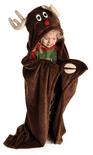 LazyOne Hooded Critter Fleece Reindeer Blanket