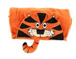 LazyOne Hooded Critter Fleece Tiger Blanket