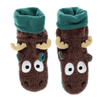 LazyOne Unisex Moose Woodland Slippers