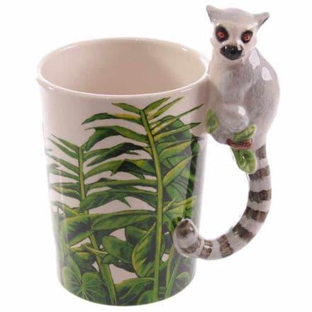 Lemur Shaped Handle Mug