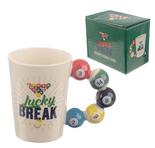 Lucky Break Pool Balls Shaped Handle Mug