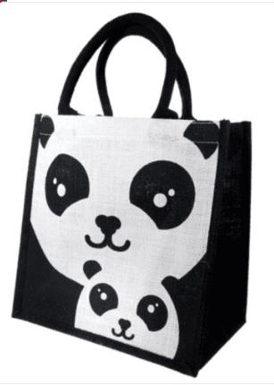 Medium Panda Jute Bag