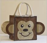 Monkey Small Jute Bag