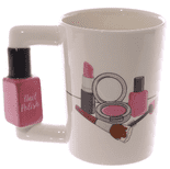 Nail Varnish Shaped Handle Mug
