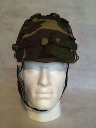 Plastic M1 Helmet with Green Camo Cover
