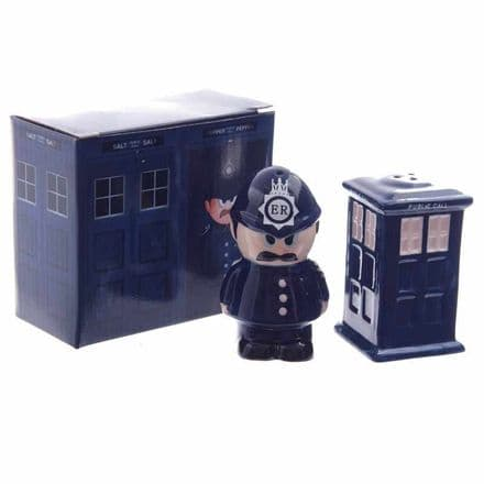 Policeman And Police Box Salt And Pepper Set