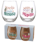 Pop the Prosecco Glass Tumblers