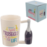 Pop the Prosecco Shaped Handle Mug