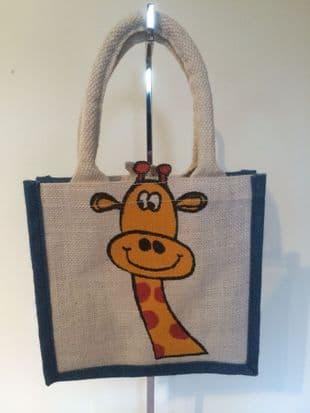 Small Giraffe Jute Bag