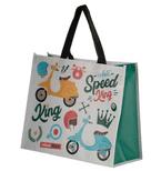 Speed King Scooter Design Shopping Bag