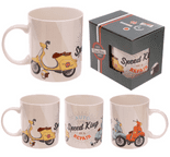 Speed King Scooter Mug by Jack Evans