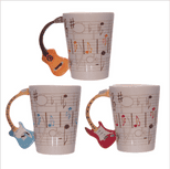 Ted Smith Ceramic Sheet Music Guitar Handle Mug