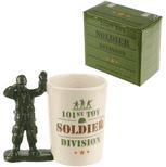 Toy Soldier with Binoculars Shaped Handle Mug