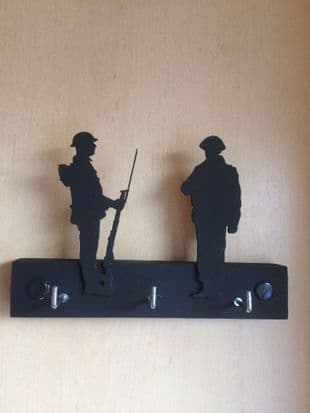 Two Soldiers on a Key Rack