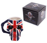 UK Flag Skull Head Mug