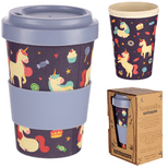 Unicorn Reusable Screw Top Bamboo Travel Mug