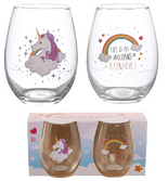 Unicorn Set of 2 Glass Tumblers