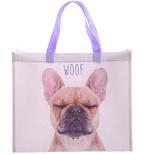 WOOF French Bull Dog Design Shopping Bag