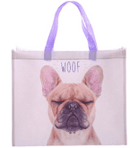 WOOF French Bull Dog Design Shopping Bag