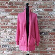 Edge to Edge Long Cardigan in Light Fuchsia