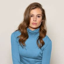 Merino Polo Neck Jumper Calypso Blue