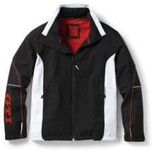 GENUINE VW GTi COLLECTION - MENS BLACK WHITE RED SOFTSHELL JACKET COAT