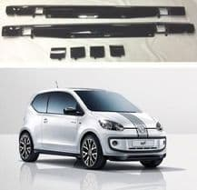GENUINE VW ROCK UP UP! PIANO BLACK PAINTED SIDE SPOILER SKIRTS SET