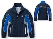 WOMENS BLUE GREY SOFT SHELL SMALL JACKET COAT – GENUINE VW MOTORSPORT R COLLECTION