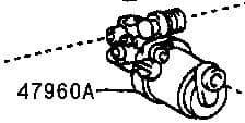 Genuine Lexus Brake Booster Pump Assy (GS300, GS400, GS430, SC430) 47960-30030, 4796030030