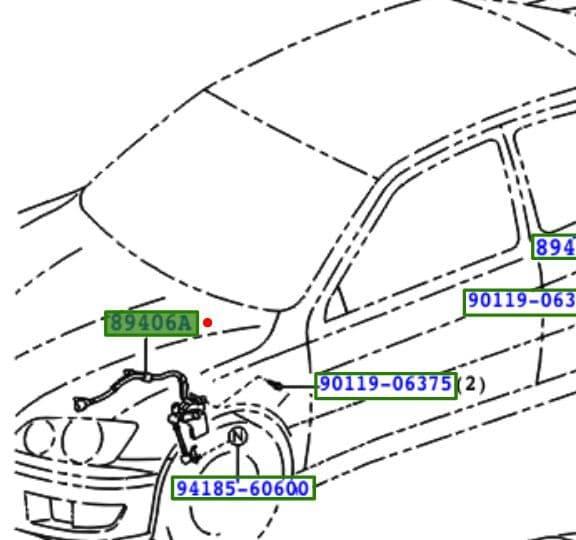 Genuine Lexus Front LH Height Control Sensor 89406-53010 0940653010
