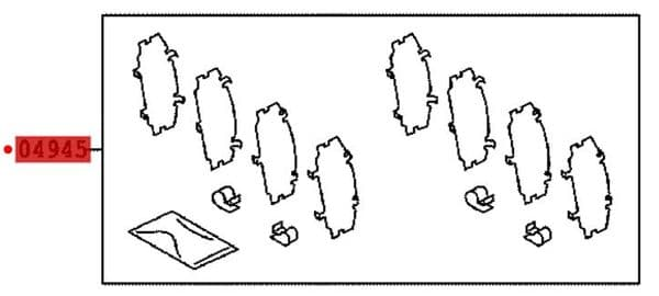Genuine Lexus Front Pad Shim Kit 04945-53050 0494553050
