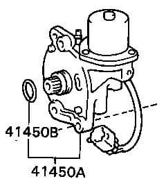 Genuine Lexus LX450 Actuator Differential Lock Shift No.2 41450-60060, 4145060060